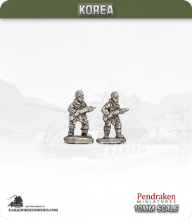 10mm Korea: British - Infantry with Rifle - Advancing (winter)