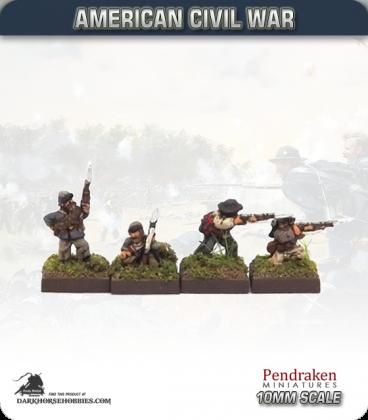 10mm American Civil War: Confederate Foot - Firing (type 2)