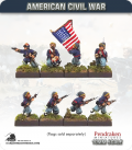 10mm American Civil War: Zouaves in Fez with Command - Advancing/Attacking
