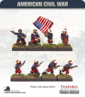 10mm American Civil War: Zouaves in Turban with Command - Advancing/Attacking