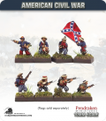 10mm American Civil War: Zouaves in Straw Hats with Command