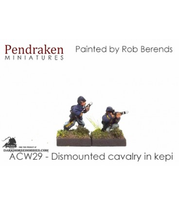 10mm American Civil War: Dismounted Cavalry in Kepi