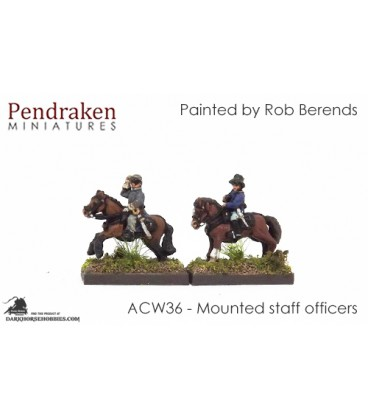 10mm American Civil War: Mounted Staff Officers