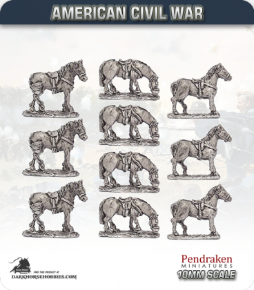 10mm American Civil War: Standing Horses