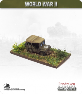 10mm World War II: British - Jeep (with raised windscreen and tilt)