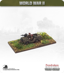 10mm World War II: British - Airborne Jeep with Vickers K (VGO) MG