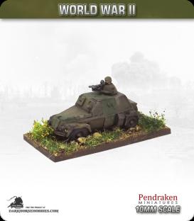 10mm World War II: British - Humber Light Recon (LRC) vehicle