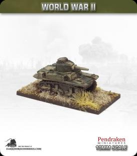 10mm World War II: British - M3 Stuart Honey tank (early turret)
