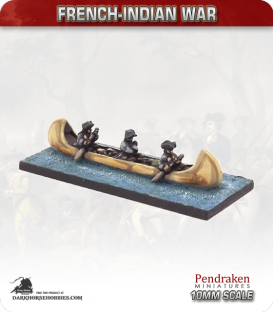 10mm French-Indian War: Birch Bark Canoe - European crew