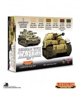Lifecolor German WWII Tanks Set 1