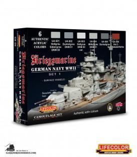 Lifecolor German WWII Kriegsmarine Set 1