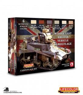 Lifecolor British Vehicles - Middle East Set