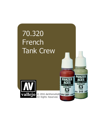 Vallejo Model Color: Panzer Aces - French Tankcrew (17ml)