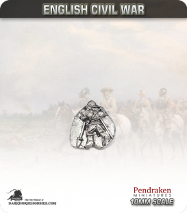 10mm English Civil War: Pikemen Casualty in Morion Helmet