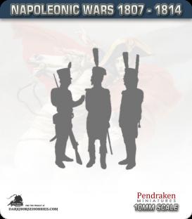 10mm Peninsular War (1807-1814): Brunswick-Oels Jager in Jacket - Firing Line