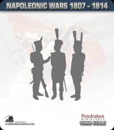 10mm Peninsular War (1807-1814): Spanish Grenadiers in 1805 Uniform (c1807) (with command)