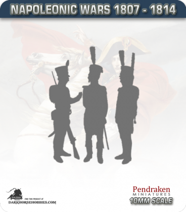 10mm Peninsular War (1807-1814): Spanish Fusilier Command in 1805 Uniform (c1809-1810)