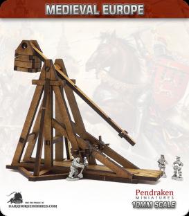 10mm Medieval (Late European): Trebuchet (with crew)