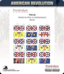 10mm American Revolution: British Flags