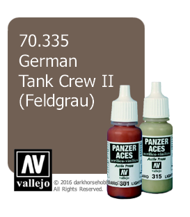 Vallejo Model Color: Panzer Aces - German Tank Crew II - Feldgrau (17ml)