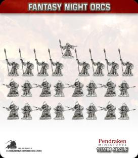 10mm Fantasy Night Orcs: Spearmen