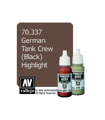 Vallejo Model Color: Panzer Aces - German Tank Crew - Black Highlight (17ml)