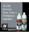 Vallejo Model Color: Panzer Aces - German Tank Crew I - Feldgrau Highlight (17ml)
