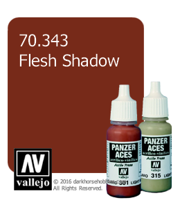 Vallejo Model Color: Panzer Aces - Flesh Shadow (17ml)