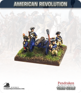 10mm American Revolution: 6pdr Guns with Crew