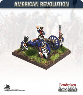 10mm American Revolution: 5.5in Howitzer Guns with Crew