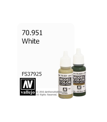 Vallejo Model Color: White (17ml)