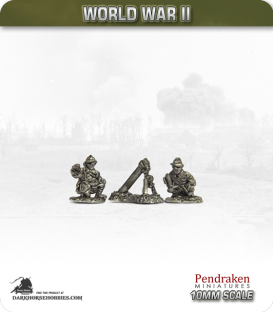 10mm World War II: French - 80mm Mortar with Crew pack