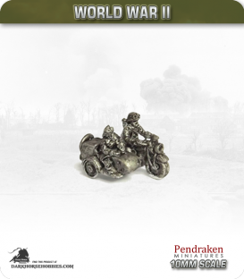 10mm World War II: French - Motorcycle Troops (mounted) pack