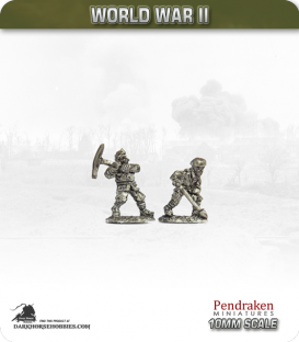 10mm World War II: French - Engineers (pick and shovel) pack