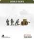 10mm World War II: French - 75mm Field Gun with Crew (pheumatic wheels)