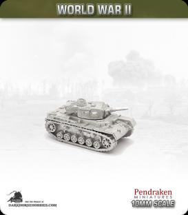 10mm World War II: German - Panzer III Ausf F - 50mm L/42