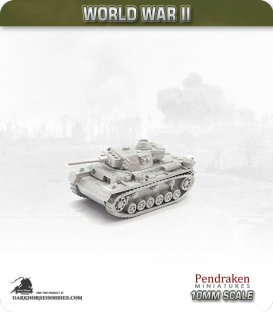 10mm World War II: German - Flammpanzer III Ausf M