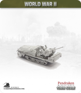 10mm World War II: German - Sd.Kfz 251/17 Ausf D - 20mm AA