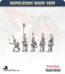 10mm Napoleonic Wars (1807-14): French Middle Guard Fusilier Chasseurs