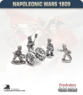 10mm Napoleonic Wars (1807-14): French 12pdr Guns (with guard foot crew)