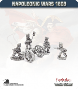 10mm Napoleonic Wars (1807-14): French 7-inch Howitzers (with guard foot crew)