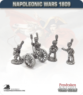 10mm Napoleonic Wars (1807-14): French 7-inch Howitzers (with guard horse crew)