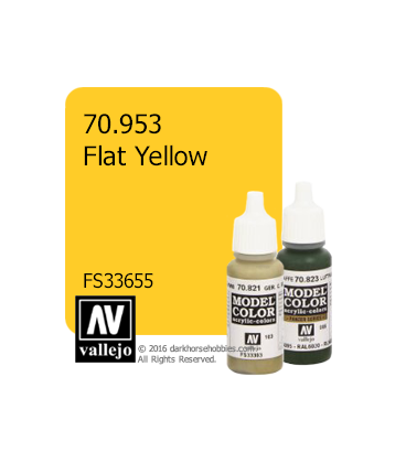 Vallejo Model Color: Flat Yellow (17ml)