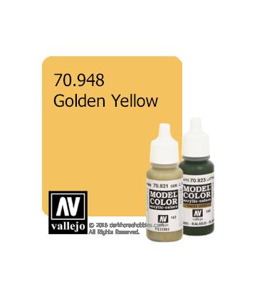 Vallejo Model Color: Golden Yellow (17ml)