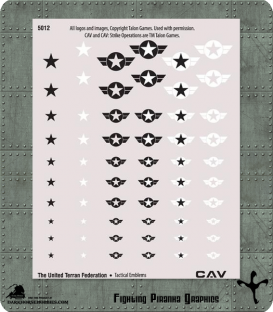 CAV: United Terran Federation Tactical Emblems