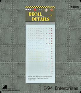 Decals (6mm-10mm): British WWII Armoured Unit & Organisation, Brigade and Regiment Markings