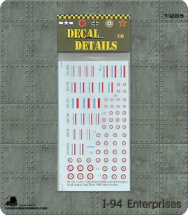 Decals (1:285 Scale): French Aircraft Markings