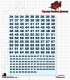 CAV: One-Color Square Numbers (34-66) - Decal Sheet