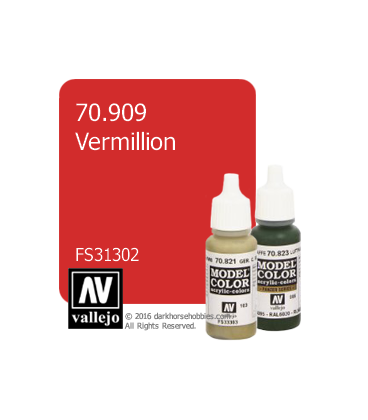 Vallejo Model Color: Vermillion (17ml)