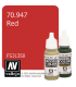 Vallejo Model Color: Red (17ml)